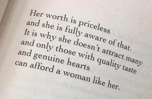 Priceless Womanhood